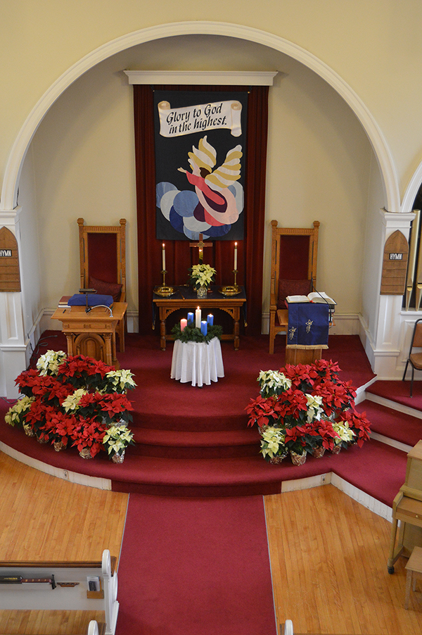UCC Burlington Sanctuary at Christmas