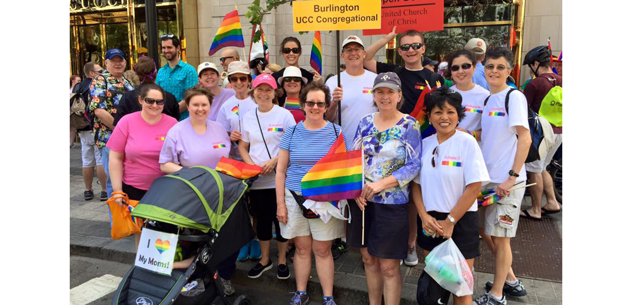 UCC Congregational Burlington supports Gay Pride 2015